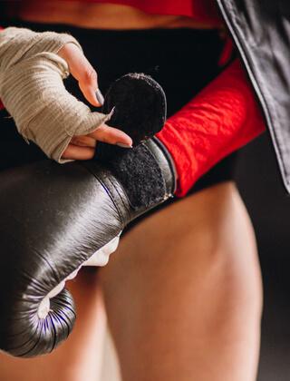 Entrenamiento de boxeo en casa